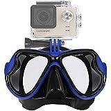 IXROAD Maschera Occhiali Snorkeling Subacquea Sub con Supporto per Action Cam
