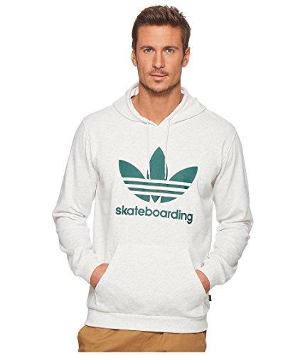 adidas Skateboarding Men's Clima 3.0 Hoodie Pale Melange/Collegiate Green XX-Large