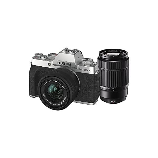 RetinaPix Fujifilm X-T200 Mirrorless Camera Body with 15-45 mm + 50-230 mm Dual Lens Kit - Silver