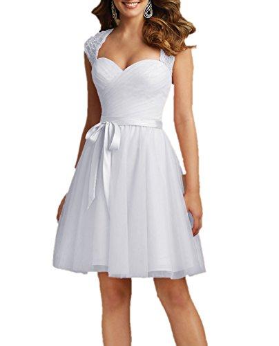 Bridal da linea Senza a maniche Donna Mall sposa Abito ad Bianco fwUaxfEqrC