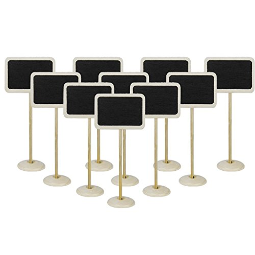 Wooden Rectangle-Shaped Blackboard with Base - 2