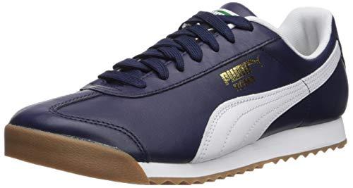 (PUMA Men's Roma Classic Sneaker, Peacoat White, 9.5 M US)