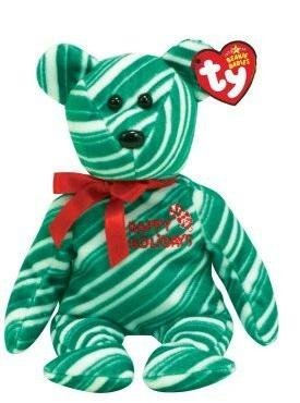 TY Beanie Baby - 2007 HOLIDAY TEDDY (Green Version)