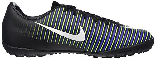 Nike 831949-013, Botas de Fútbol para Niños Negro (Black / White-Electric Green)