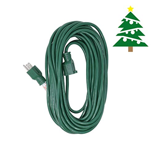 Woods 0393 40 Foot, 16/3, Outdoor Holiday Extension Cord,Green, Ideal for Holiday Decorations and Christmas Lights