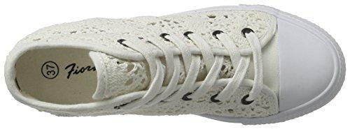 Sneaker Donna Alte Bianco Bianco Fepe024 Fiorucci Yq56W05
