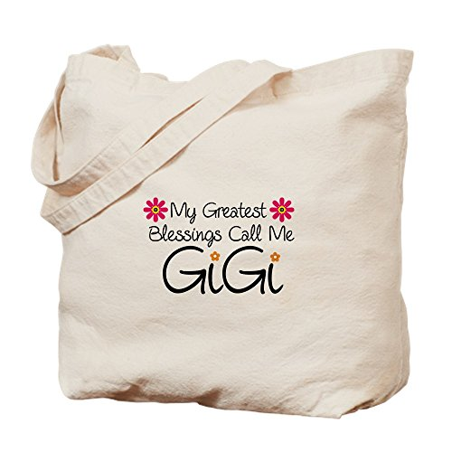 CafePress Blessings Gigi Natural Canvas Tote Bag, Cloth Shopping ()