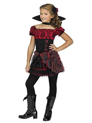 Fun World Big Girl's La Vampire Children's Costume, Multicolor, Large 114742L]()