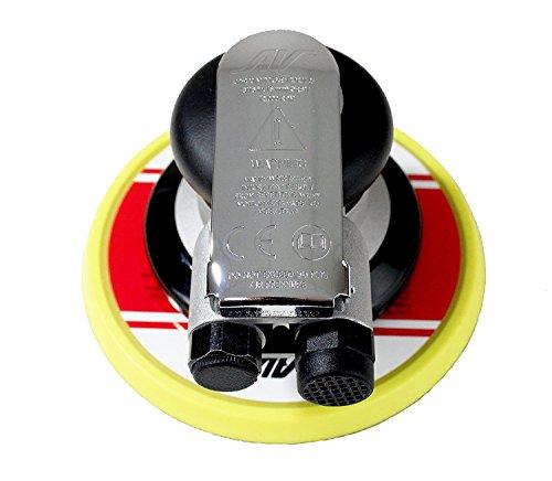 AirVANTAGE Industrial Grade Random Orbital Air Sander Non-Vacuum With Low-Profile Pad, 1/4 in. NPT Air Inlet (5″: 3/16- PSA Vinyl)