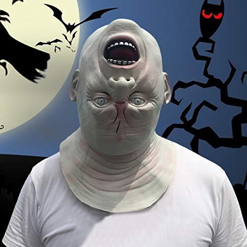 Clown Mask - Halloween Scary Latex Mask Movie Full Head Horror Costume Masks Clown Theater Prop Masquerade - Horror Mask Costume Clown Party Masks Mask Clown Halloween Latex Terrible Horro ()