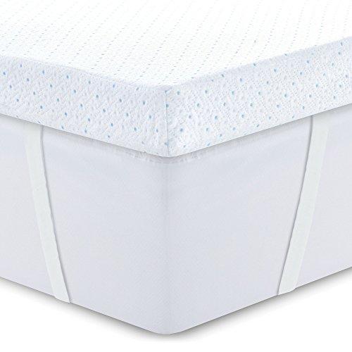 ViscoSoft 3.5 lbs Density 3-Inch Gel Memory Foam Mattress Topper Queen – Soft