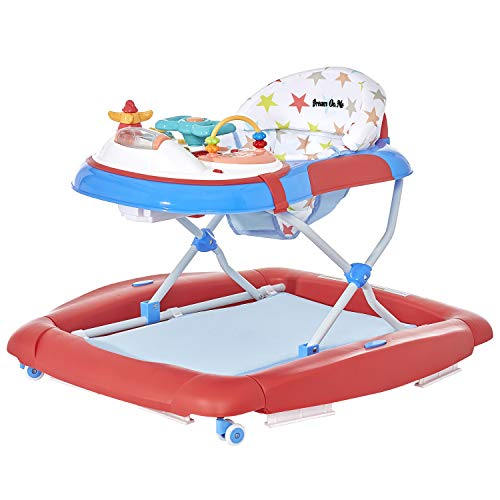 Dream On Me 2 in 1 Crossover Musical Walker, Red/White/ Blue