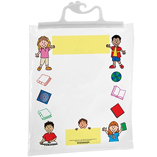 Really Good Stuff Hang-Up Clear Plastic Bags - Store Student Materials, Books, Center Activities - Safely Send Home Assignments - Sturdy Snap Shut Hanging Plastic Bags, 11
