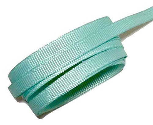 10 Yards Aqua Blue 1/4'' Grosgrain Ribbon by The Yard DIY Hair Bows KD-2827