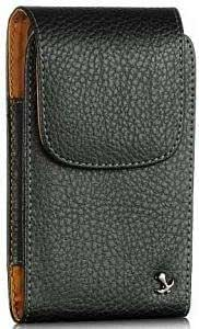 Bloutina ZTE Score Modern Design Vertical Napa Leather Case Swivel Clip Pouch With Hidden Magnetic Closure