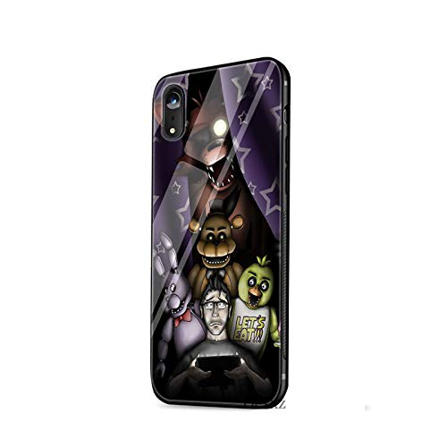 1 piece Tempered Glass Case Five nights at freddy's fnaf freddy cover  Anti-knock Cover For iPhone X 6 6s 7 8 Plus XS XR Max 5 5s SE Case