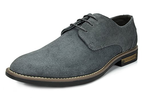 Suede Brogue Shoe - Bruno Marc Men's URBAN-08 Grey Suede Leather Lace Up Oxfords Shoes - 9.5 M US