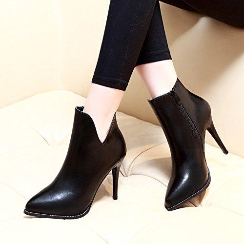 personalisiert Haufen Damenstiefel Black Boots waren v Kurzer beides ZHZNVX Martin neuer Modetipps gitterartige T6I5xwHq