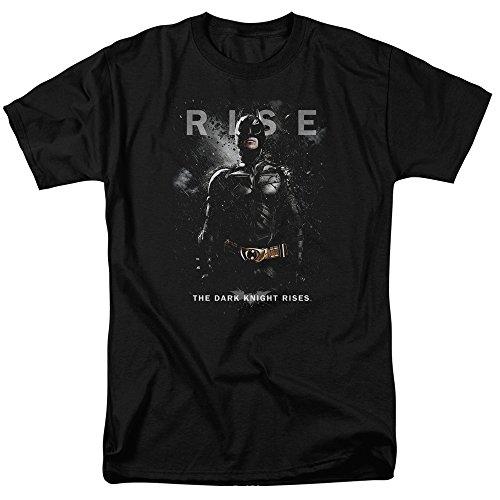 Trevco Men's Batman Dark Knight Rises Short Sleeve T-Shirt, Bat Black, X-Large