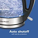 Hamilton Beach Electric Tea Kettle, Water Boiler & Heater, Cordless, LED Indicator with Auto-Shutoff & Boil-Dry…