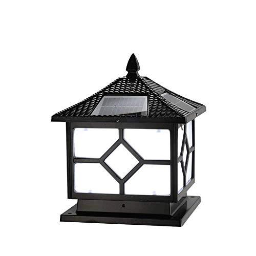 PingFanMi IP65 Waterproof Column Head Light Outdoor Black Aluminum die-cast Porch Garden Light, with Good Light Transmission, Outdoor Garden Decoration Lights (Size : 252533cm)