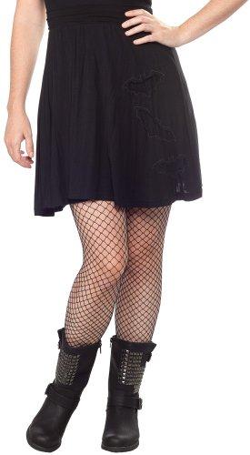 Sourpuss Black Bats in the Belfry Skirt