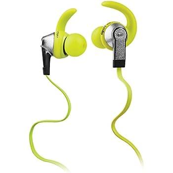 Monster iSport Victory In-Ear Sports Headphones, Green, Running, Sweatproof