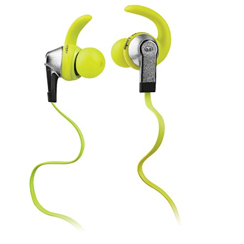 Monster iSport Victory In-Ear Sports Headphones, Green, Running, Sweatproof