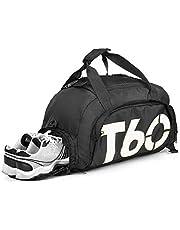 تي 60 حقيبة دفل نايلون للجنسين,اسود - حقائب دفل للنشاطات الرياضية والخارجية