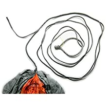 Hammock Whoopie Slings + FREE Soft Shackles (set of 2) – 6' Nylon Hammock End Replacement | Made of Lightweight, Reflective, Ultra-Strong Dyneema Fibers | Adjustable Camping Rope | Designed in USA