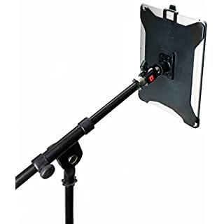 """iShot G8 Pro iPad Pro 10.5 Mic Music Stand Tripod Mount Adapter Holder + 360° Locking Swivel Ball Head + 1/4"""" to 5/8"""" Thread Reducer Adapter Bushing Converter - Compatible with iPad Pro 10.5 inch Only"""