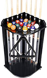 Iszy Billiards Pool Cue Rack Only-Billiard Stick Stand Holds 8 Cues and Ball Set