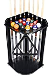 Pool Cue Rack Only- Billiard Stick Stand Holds 8