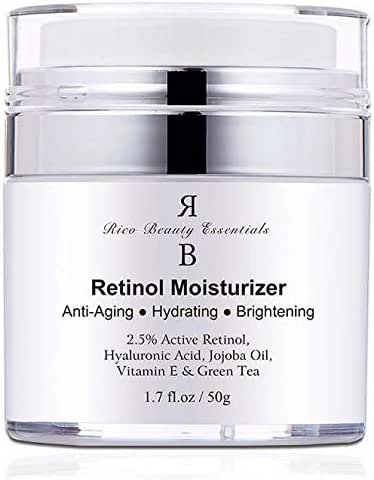 Retinol Moisturizer Cream for Face – With Retinol , Hyaluronic Acid, Vitamin E and Green Tea. Best Anti- Aging Night and Day Time Moisturizing Cream 1.7 FL Oz