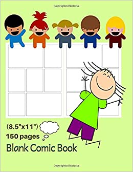 Blank Comic Book Draw Cartoon Templates Comic Book Drawing Paper For Kids 8 5 X11 150 Pages Draw Your Own Comics Joke Book Blank Comic Books Comic Outline Write Joke Books For Kids
