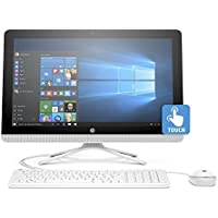 HP Newest All-In-One Flagship High Performance 23.8 Full HD Touchscreen Desktop PC, AMD A8-7410 Quad-Core, 8GB RAM, 1TB HDD, DVD RW, WIFI, Windows 10, Wired Keyboard and Mouse