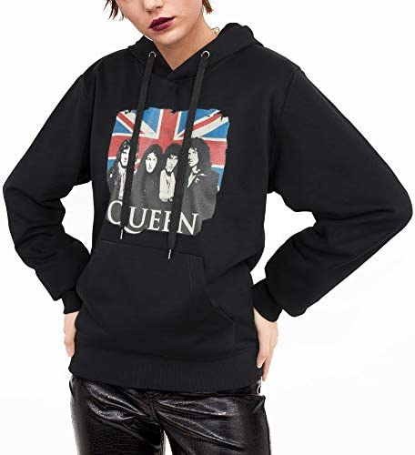 Fashion Hooded Sweatshirt for Womens Classic Band Queen Pullover Hoodie Drawstring Pocket