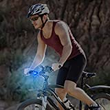 Mudder 16 Pieces Bicycle Light Silicone LED Bicycle Light Waterproof Bike Headlight and Taillight, Assorted Colors