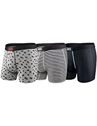 """Saxx Underwear Men's 5"""" Boxer Brief 3-Pack Classic Vibe with Ballpark Pouch"""