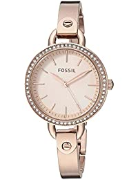 Womens Classic Minute Quartz Stainless-Steel-Plated Watch, Color:Rose