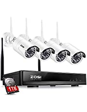 ZOSI 1080p Wireless CCTV System w/Hard Drive wireless security camera system surveillance camera