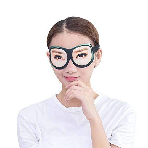 - Honbay 3D Funny Eyeshade Soft Sleep Eye Mask with Adjustable Head Strap for Travel, Game, Party, Rest, Sleeping, etc (Woman) Black