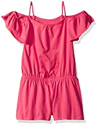 The Children\'s Place Big Girls\' Everyday Cold Shoulder Romper, Melonade, M (7/8)