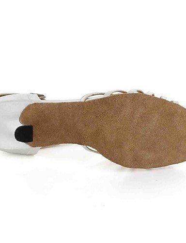 ShangYi Chaussures de danse ( Noir/Blanc ) - Personnalisable - Talons personnalisés - Similicuir - Danse latine , white-us8.5 / eu39 / uk6.5 / cn40 , white-us8.5 / eu39 / uk6.5 / cn40