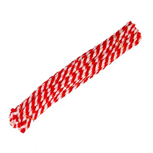 50 pcs 29.5cm(11.6inch) Christmas Striped Chenille Stem,Pipe Cleaners Tinsel Chenille Stems for Creative Craft DIY Art Supplies Retro Christmas Candy Cane Crafting Projects