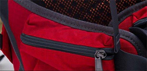 mochilas montaña Hombres y mujeres de camping al aire libre de senderismo bolsa de viaje mochila 35L soportar transpirable Mochilas de marcha ( Color : Azul , Tamaño : 35L ) Rojo
