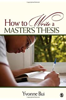 how to write a master thesis bui