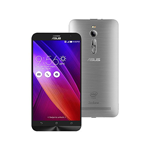 ASUS ZenFone 2 ZE551ML 4GB RAM / 64GB ROM 5.5-Inch 2G / 4G Dual SIM Factory Unlocked International Stock No Warranty (Glacier Gray)