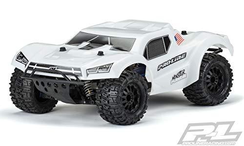 Pro-line Racing Pre-Cut MT Fusion Bash Armor, White, with 2.8 MT Tire: Slash 2/4WD, PRO349815