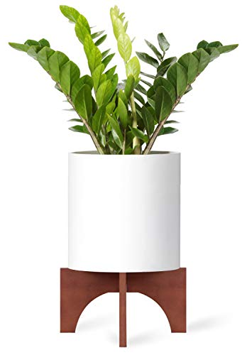 - Mkono Plant Stand Wood Mid Century Flower Pot Holder Home Decor 12 Inch (Planter Not Included)